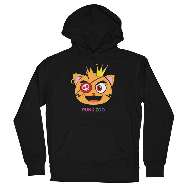 Punk Zoo King Neko Men's French Terry Pullover Hoody by punkzoo's Artist Shop