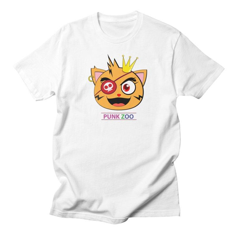 Punk Zoo King Neko Men's Regular T-Shirt by punkzoo's Artist Shop