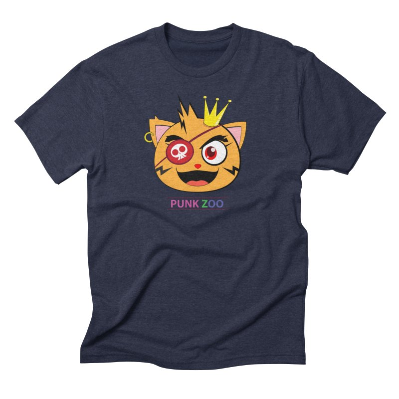 Punk Zoo King Neko Men's Triblend T-Shirt by punkzoo's Artist Shop