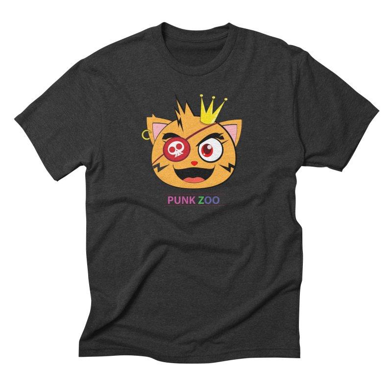 Punk Zoo King Neko Men's Triblend T-Shirt by punkzoo's Artist Shop