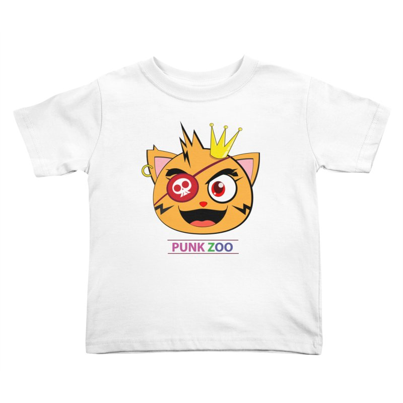 Punk Zoo King Neko Kids Toddler T-Shirt by punkzoo's Artist Shop