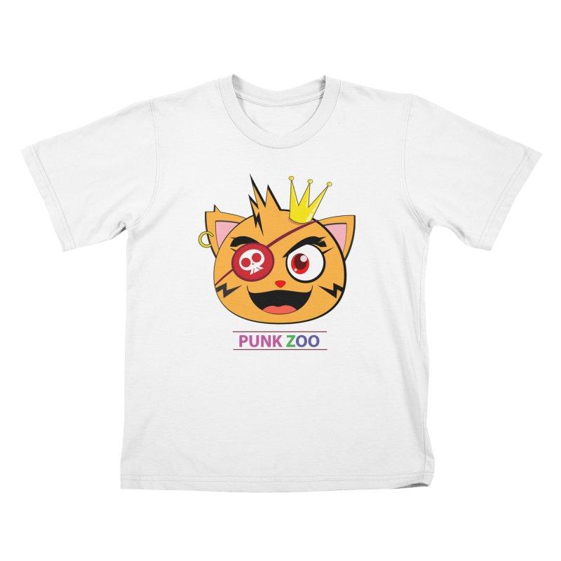 Punk Zoo King Neko Kids T-Shirt by punkzoo's Artist Shop