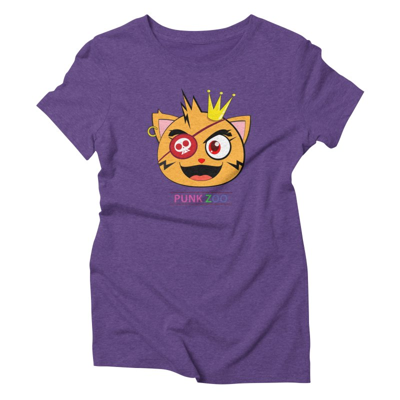 Punk Zoo King Neko Women's T-Shirt by punkzoo's Artist Shop