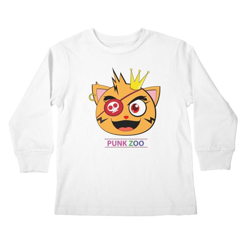 Punk Zoo King Neko Kids Longsleeve T-Shirt by punkzoo's Artist Shop