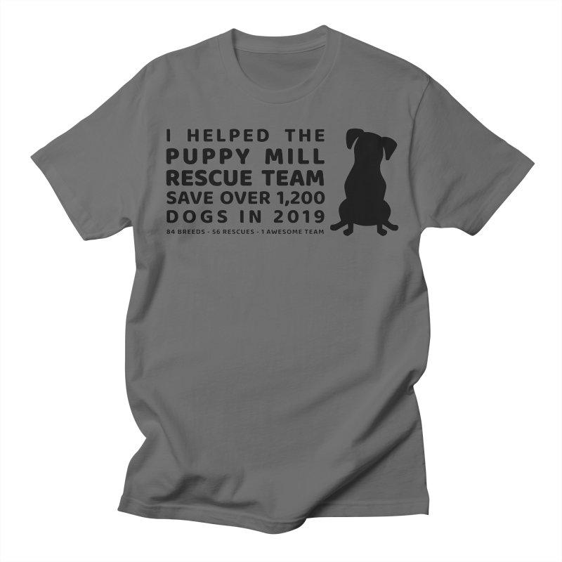 2019 Black Men's T-Shirt by puppymillrescueteam's Artist Shop
