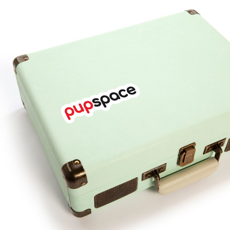 Pupspace Logo Sticker (Red and Black) Accessories Sticker by pupspace's Artist Shop