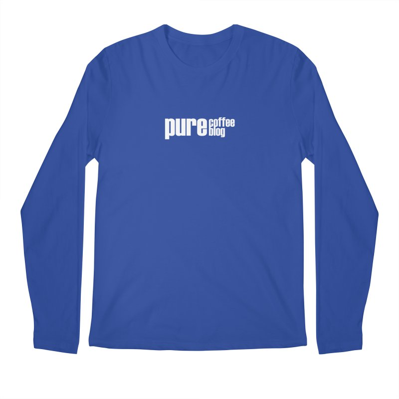 PCB Classic -white text Men's Regular Longsleeve T-Shirt by Pure Coffee Blog Shop