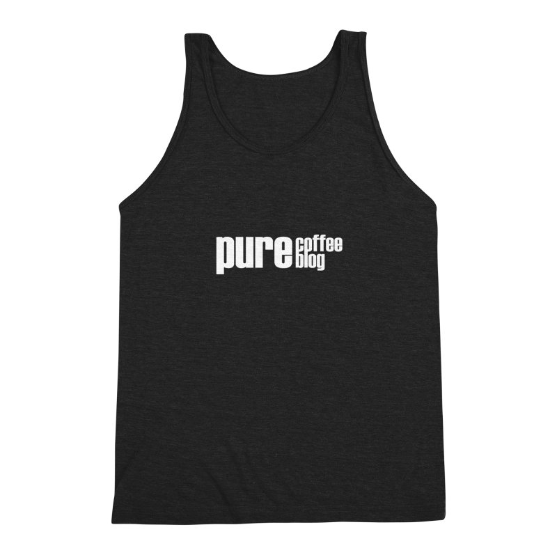PCB Classic -white text Men's Tank by Pure Coffee Blog Shop
