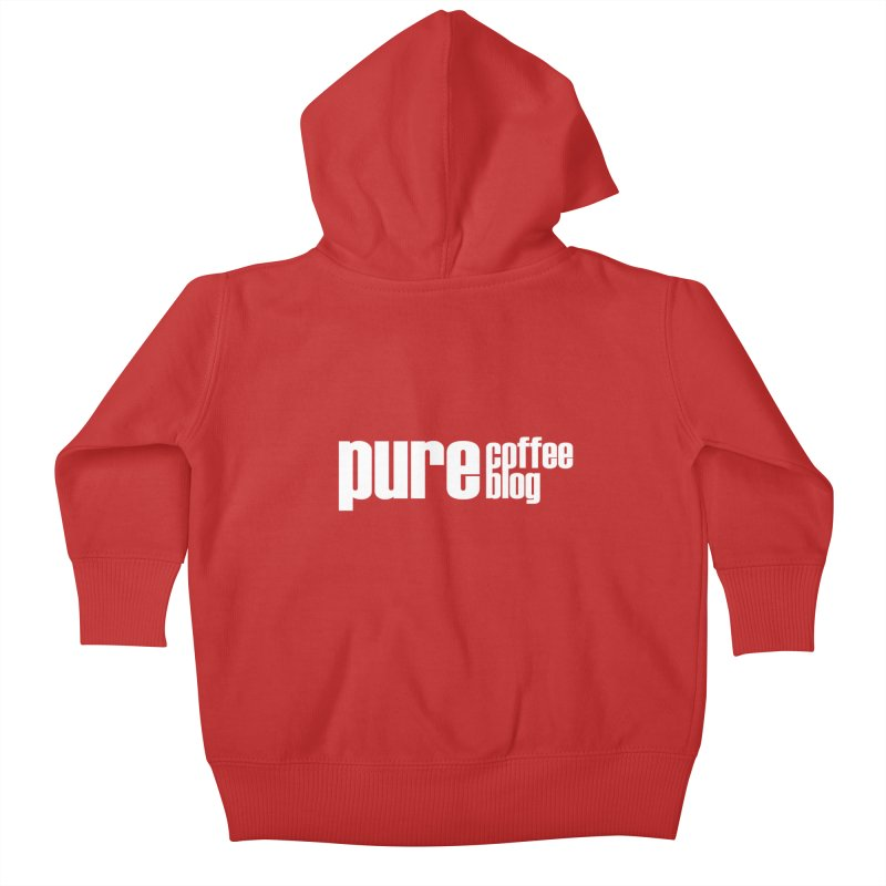 PCB Classic -white text Kids Baby Zip-Up Hoody by Pure Coffee Blog Shop