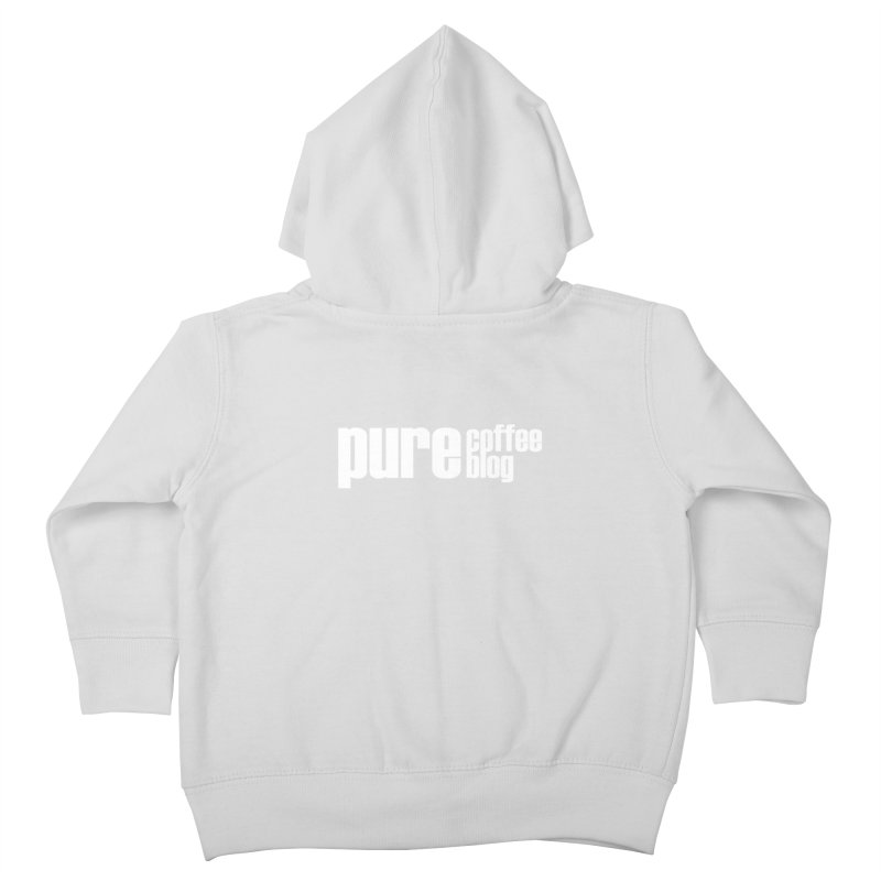PCB Classic -white text Kids Toddler Zip-Up Hoody by Pure Coffee Blog Shop