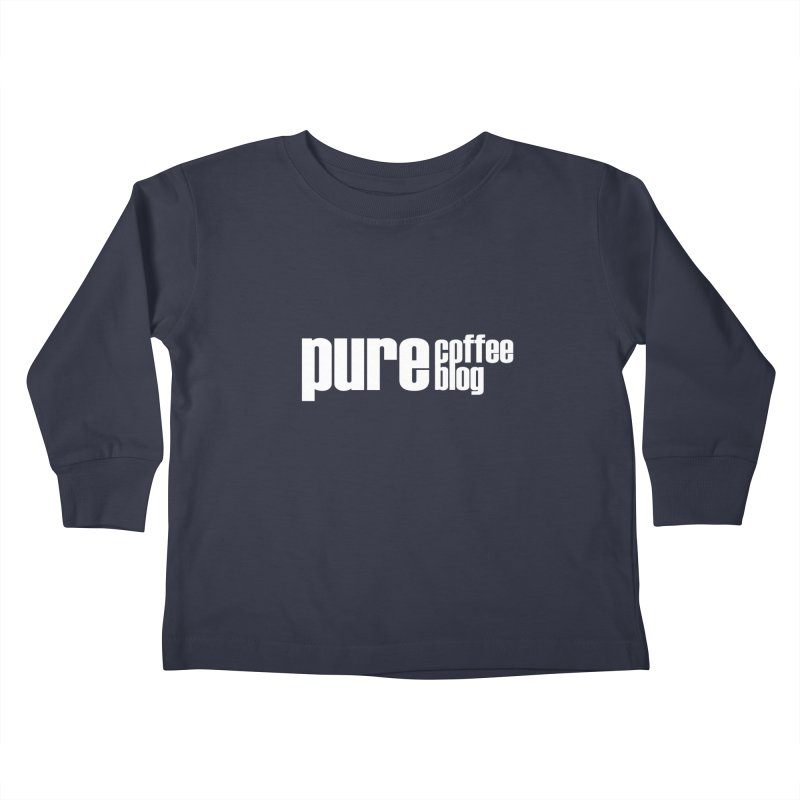 PCB Classic -white text Kids Toddler Longsleeve T-Shirt by Pure Coffee Blog Shop