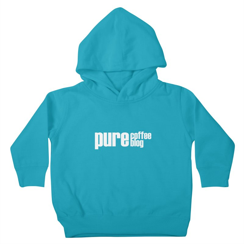 PCB Classic -white text Kids Toddler Pullover Hoody by Pure Coffee Blog Shop