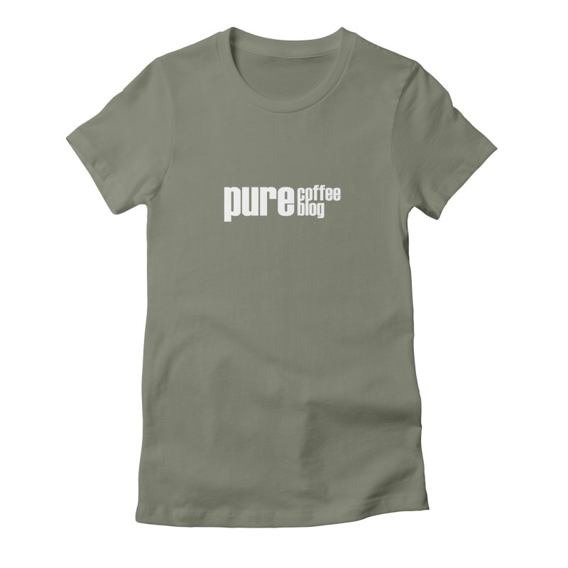 PCB Classic -white text Women's T-Shirt by Pure Coffee Blog Shop