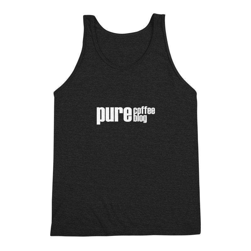 PCB Classic -white text Men's Triblend Tank by Pure Coffee Blog Shop