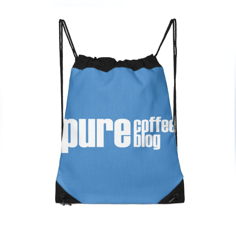 PCB Classic -white text Accessories Drawstring Bag Bag by Pure Coffee Blog Shop