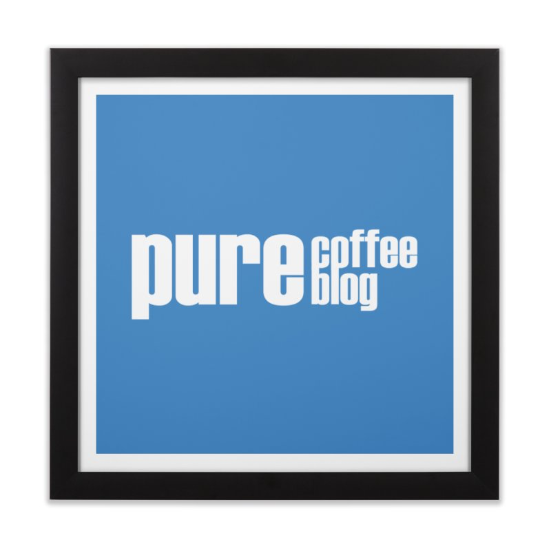 PCB Classic -white text Home Framed Fine Art Print by Pure Coffee Blog Shop