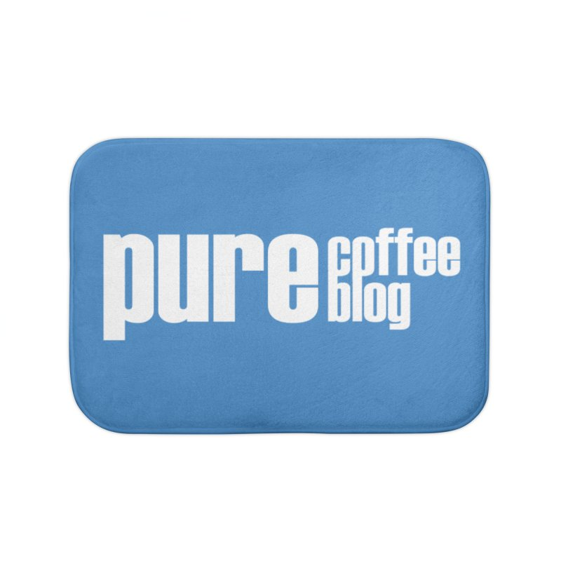 PCB Classic -white text Home Bath Mat by Pure Coffee Blog Shop