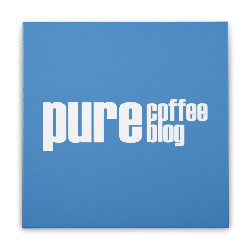 PCB Classic -white text Home Stretched Canvas by Pure Coffee Blog Shop
