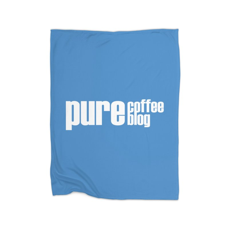 PCB Classic -white text Home Blanket by Pure Coffee Blog Shop