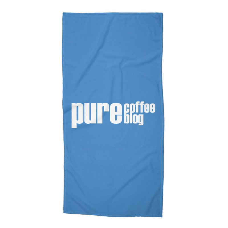PCB Classic -white text Accessories Beach Towel by Pure Coffee Blog Shop
