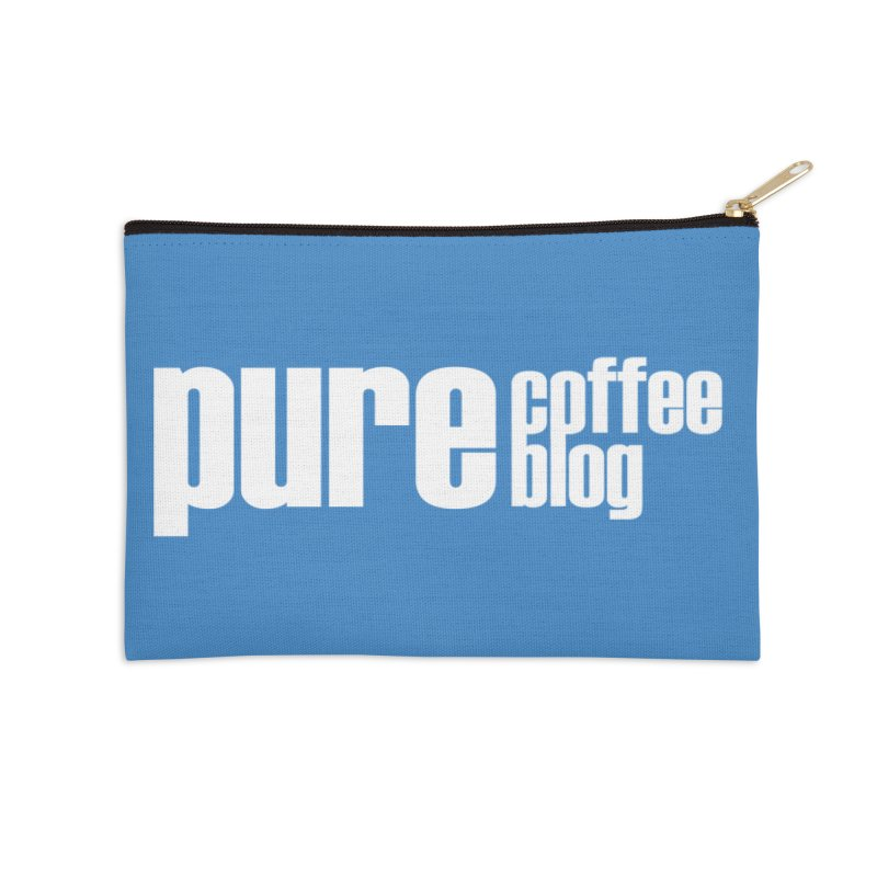 PCB Classic -white text Accessories Zip Pouch by Pure Coffee Blog Shop