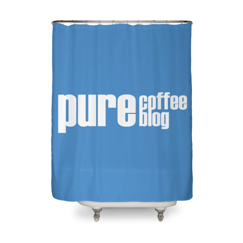 PCB Classic -white text Home Shower Curtain by Pure Coffee Blog Shop