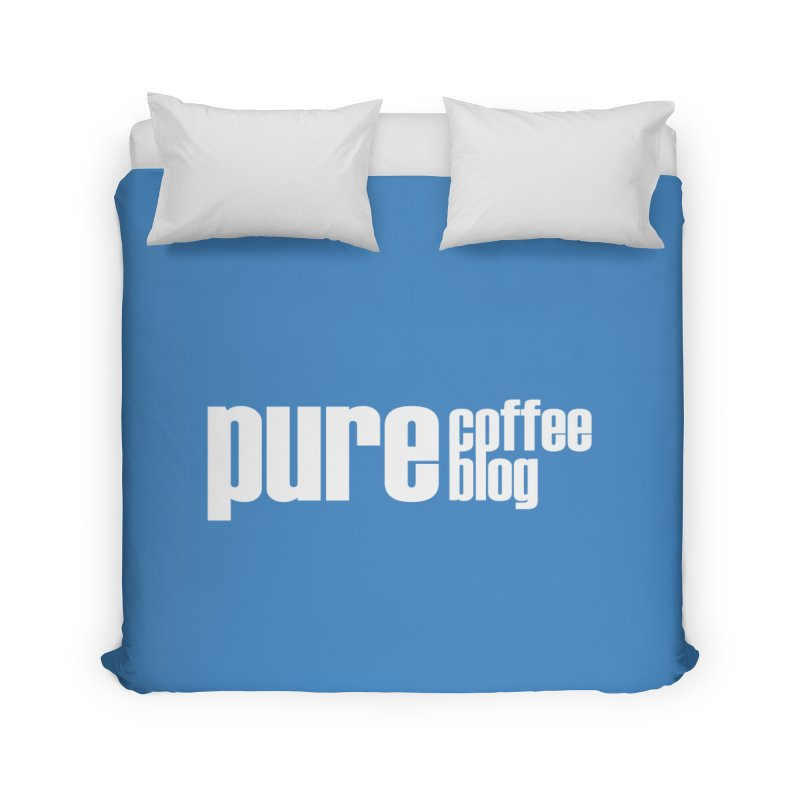 PCB Classic -white text Home Duvet by Pure Coffee Blog Shop