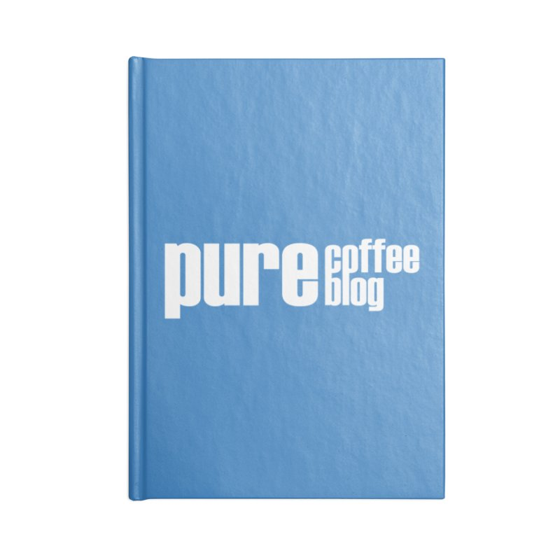 PCB Classic -white text Accessories Notebook by Pure Coffee Blog Shop
