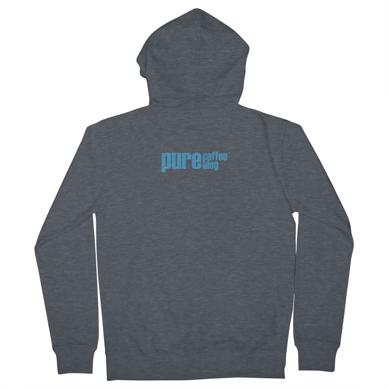 PCB Classic - blue text Men's Zip-Up Hoody by Pure Coffee Blog Shop