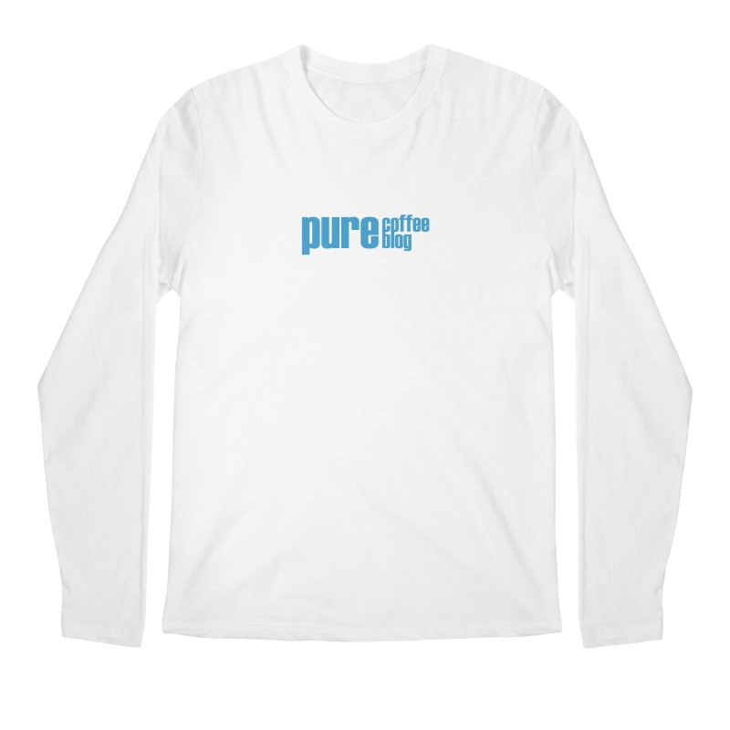 PCB Classic - blue text Men's Regular Longsleeve T-Shirt by Pure Coffee Blog Shop