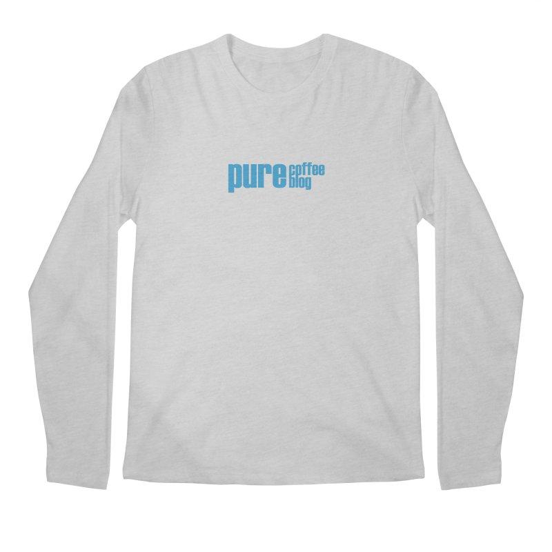 PCB Classic - blue text Men's Regular Longsleeve T-Shirt by Pure Coffee Blog Shop