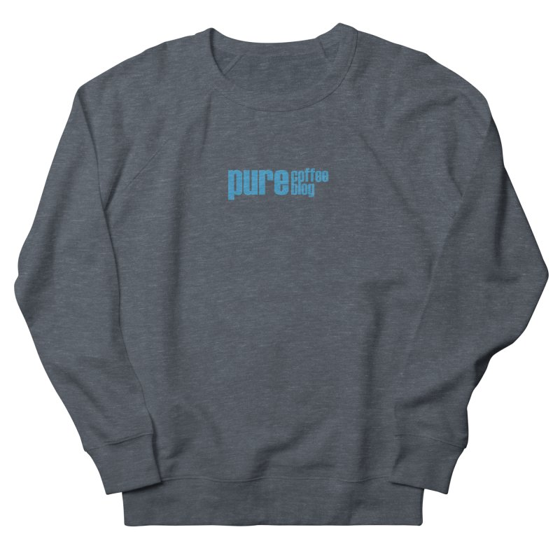 PCB Classic - blue text Men's French Terry Sweatshirt by Pure Coffee Blog Shop