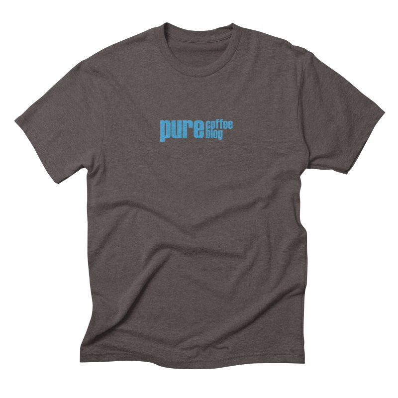 PCB Classic - blue text Men's Triblend T-Shirt by Pure Coffee Blog Shop