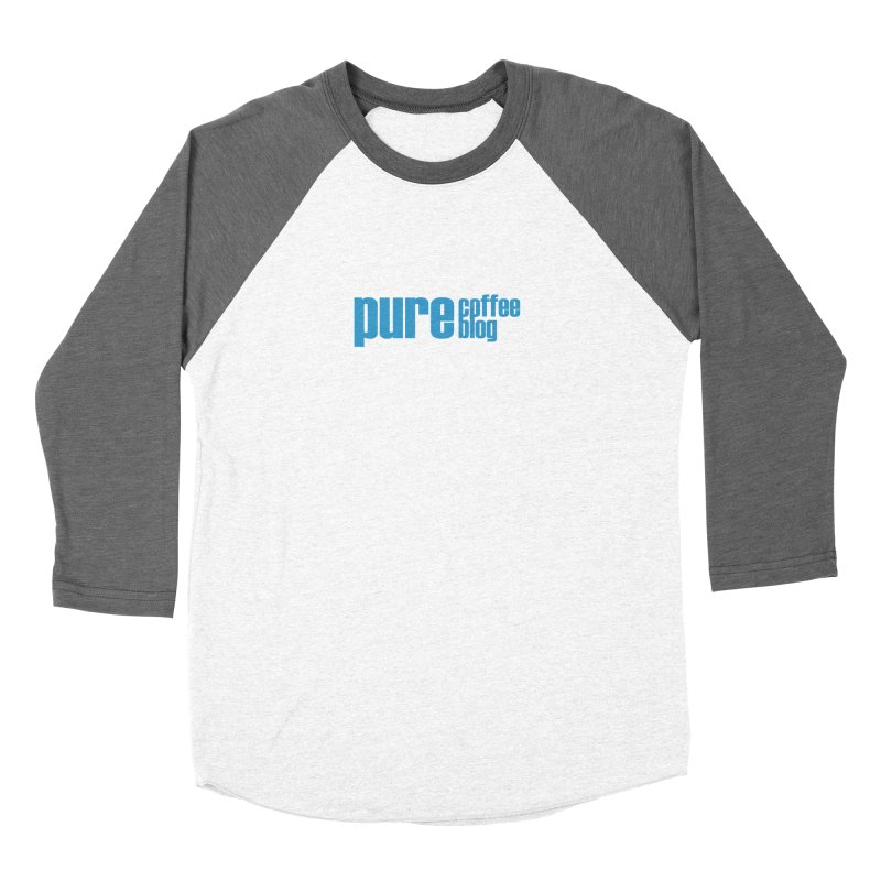 PCB Classic - blue text Women's Baseball Triblend Longsleeve T-Shirt by Pure Coffee Blog Shop