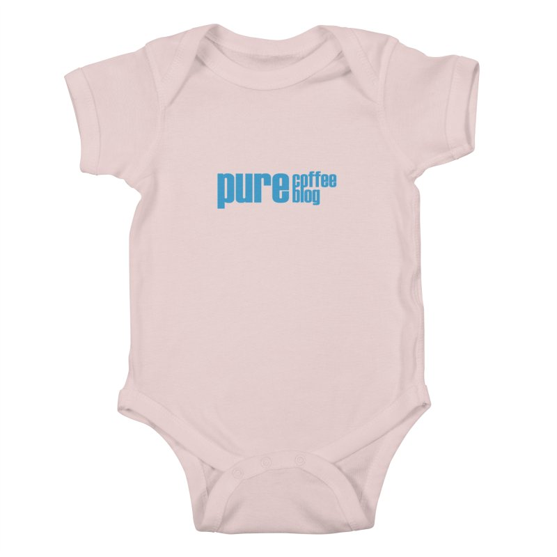 PCB Classic - blue text Kids Baby Bodysuit by Pure Coffee Blog Shop