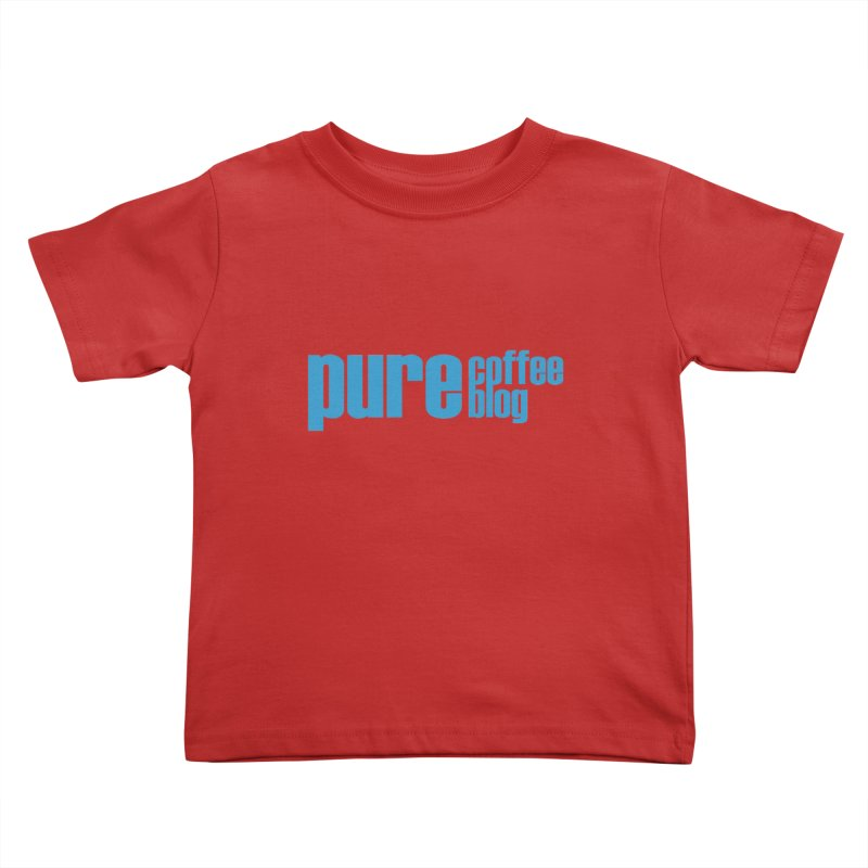 PCB Classic - blue text Kids Toddler T-Shirt by Pure Coffee Blog Shop