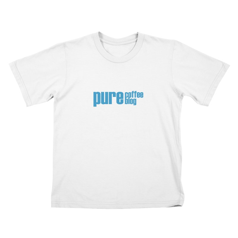 PCB Classic - blue text Kids T-Shirt by Pure Coffee Blog Shop
