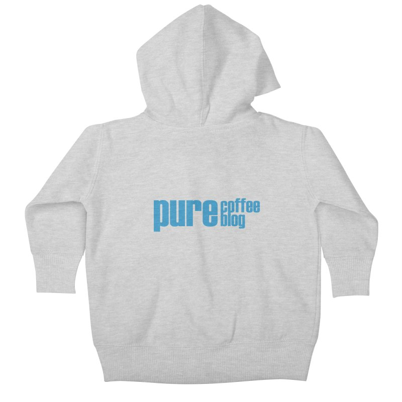 PCB Classic - blue text Kids Baby Zip-Up Hoody by Pure Coffee Blog Shop