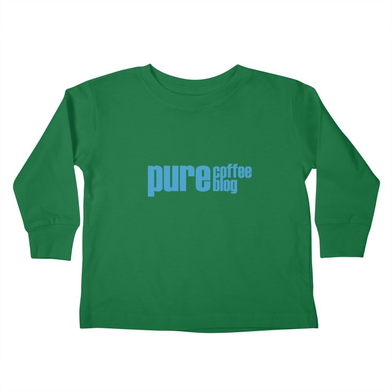 PCB Classic - blue text Kids Toddler Longsleeve T-Shirt by Pure Coffee Blog Shop