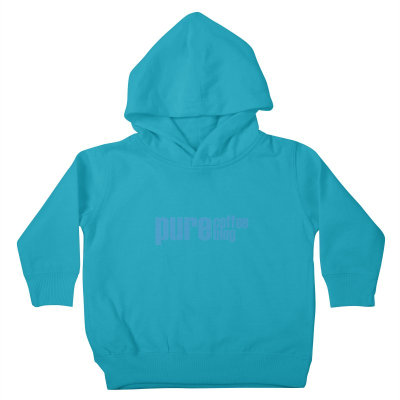 PCB Classic - blue text Kids Toddler Pullover Hoody by Pure Coffee Blog Shop
