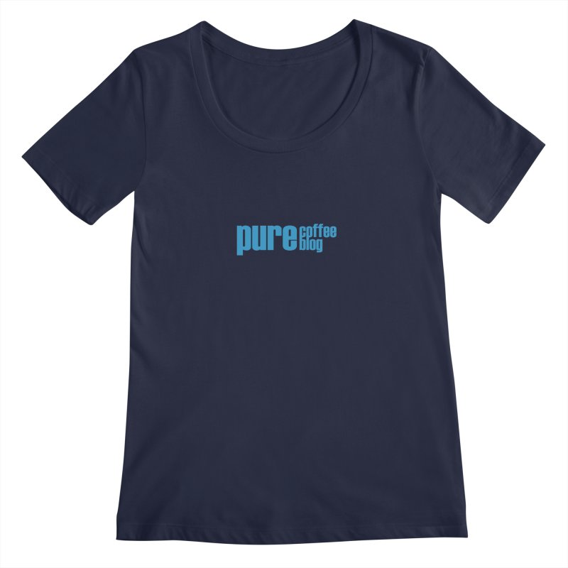 PCB Classic - blue text Women's Regular Scoop Neck by Pure Coffee Blog Shop