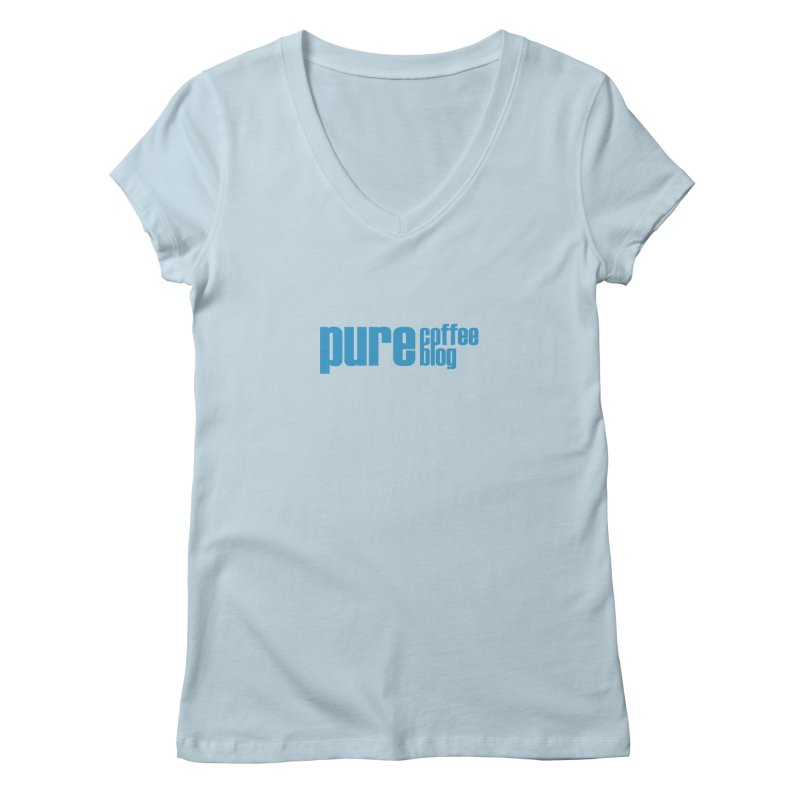 PCB Classic - blue text Women's Regular V-Neck by Pure Coffee Blog Shop