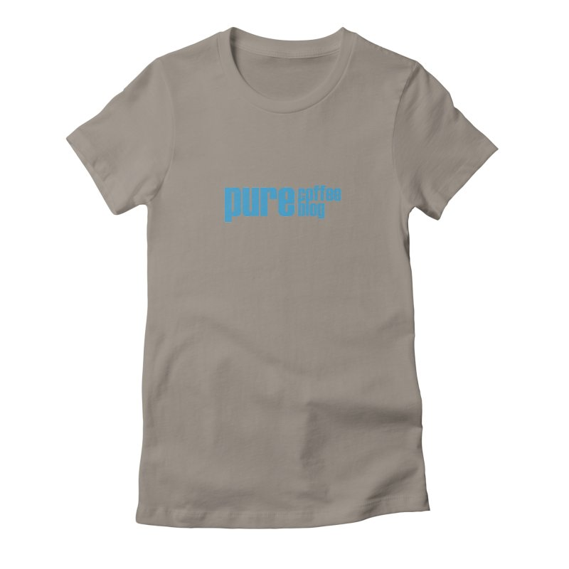 PCB Classic - blue text Women's Fitted T-Shirt by Pure Coffee Blog Shop