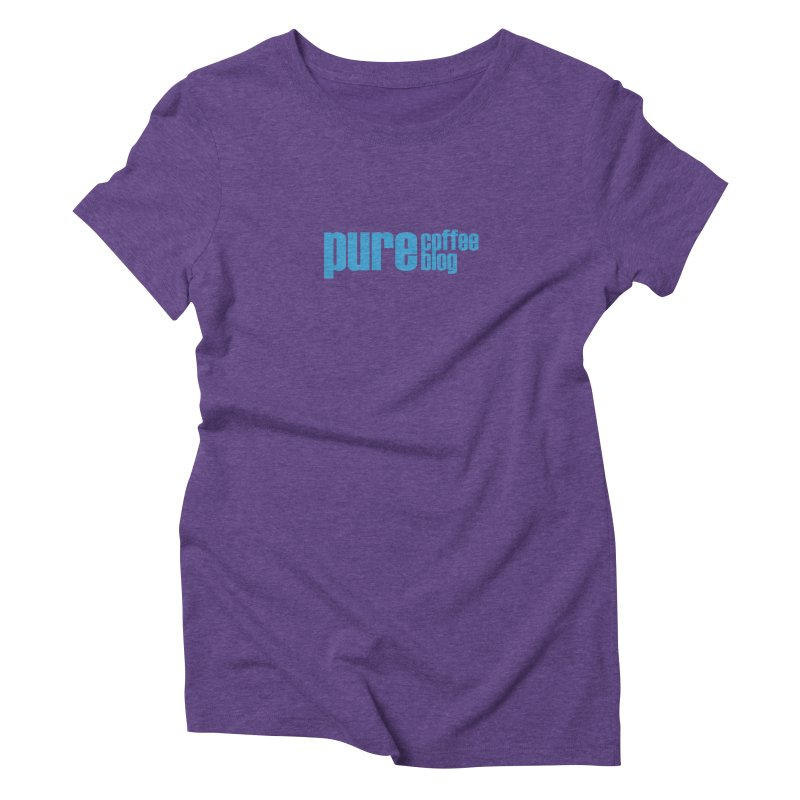 PCB Classic - blue text Women's Triblend T-Shirt by Pure Coffee Blog Shop