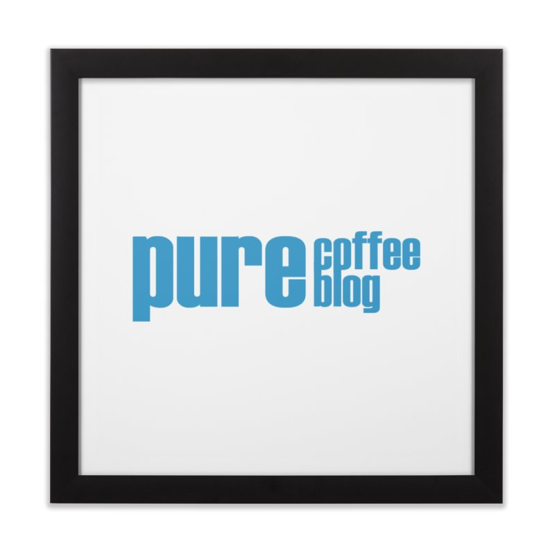 PCB Classic - blue text Home Framed Fine Art Print by Pure Coffee Blog Shop
