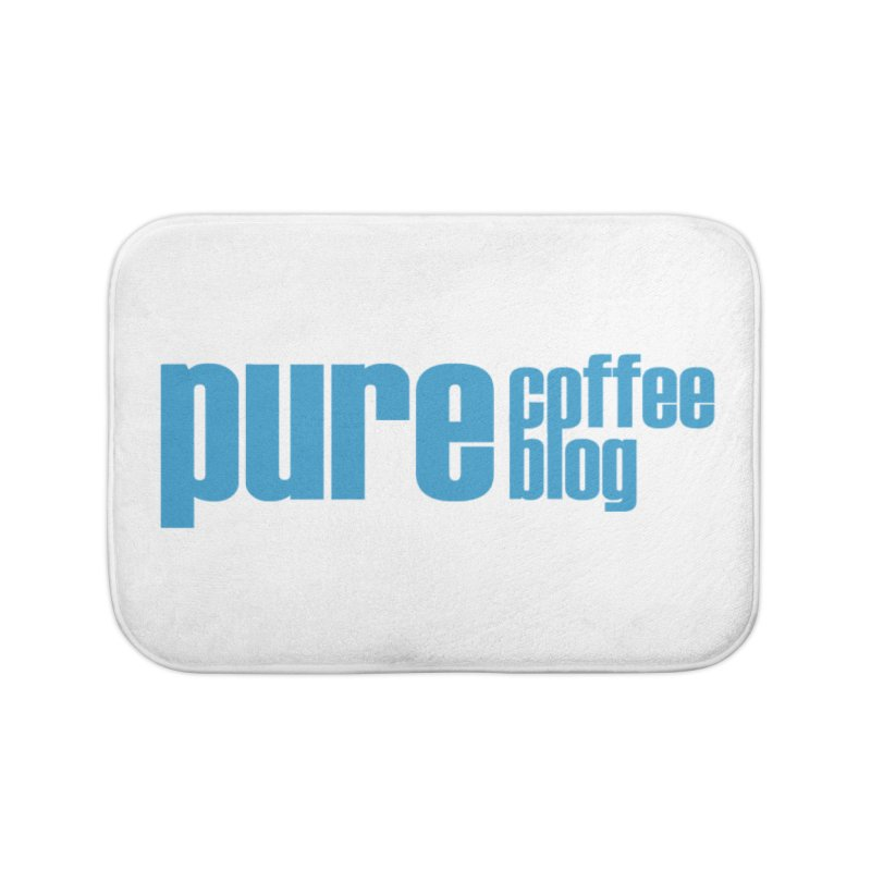 PCB Classic - blue text Home Bath Mat by Pure Coffee Blog Shop