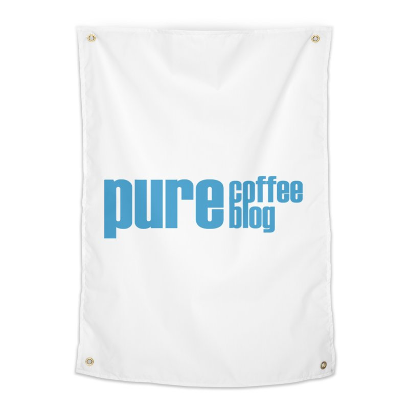 PCB Classic - blue text Home Tapestry by Pure Coffee Blog Shop
