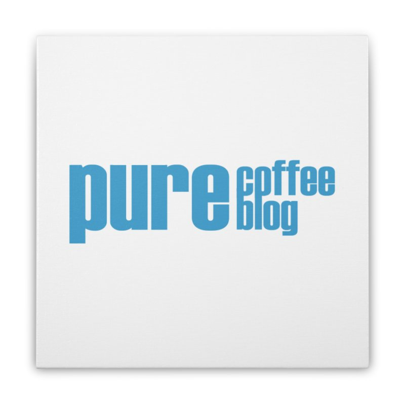 PCB Classic - blue text Home Stretched Canvas by Pure Coffee Blog Shop
