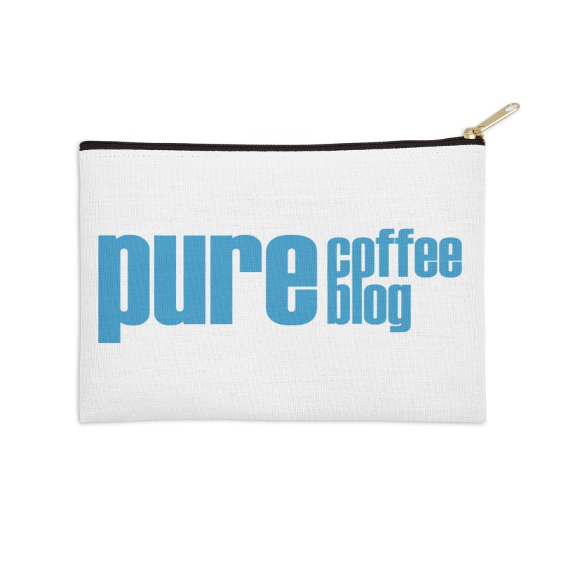 PCB Classic - blue text Accessories Zip Pouch by Pure Coffee Blog Shop