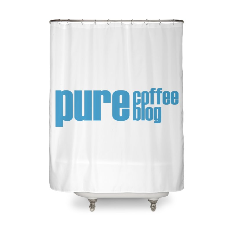 PCB Classic - blue text Home Shower Curtain by Pure Coffee Blog Shop
